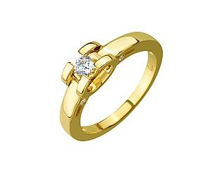 Золота каблучка з фіанітом 01-17285232 фотографія