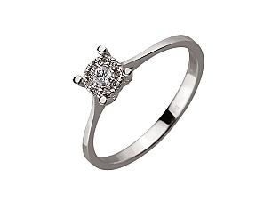 Золотое кольцо с бриллиантом 01-17593032 фотография