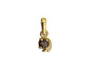 Золотий кулон з кварцом 3п-161 фотографія
