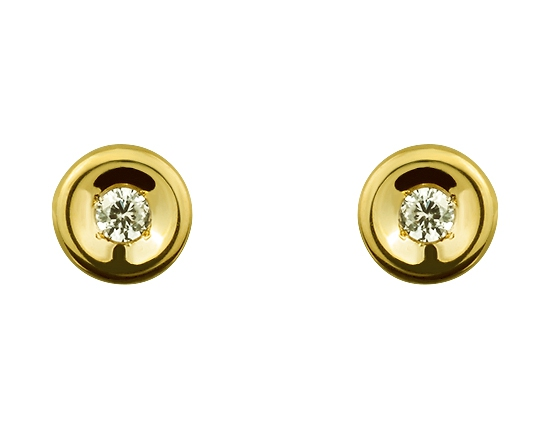 """Золотые серьги 585 пробы с фианитами (15-000073732) """"Ювелирная карта"""""""