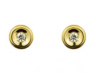 Золоті сережки з фіанітом 3б_с-077 фотографія