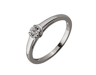 Золотое кольцо с бриллиантом 01-17620833 фотография