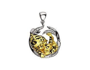 Золотий кулон з діамантами 5б_п-166 фотографія