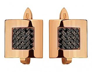 Золоті сережки з цирконієм куб. 10б_с-002 фотографія