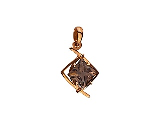 Золотий кулон з кварцом 01-17441034 фотографія