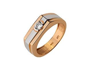 Золотое кольцо с фианитами 8б_к-112 фотография