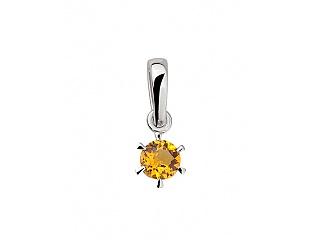 Золотий кулон з цитринами 2п-090 фотографія