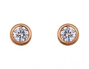 Золоті сережки з фіанітом 1с-171 фотографія