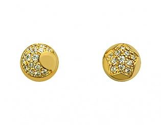 Золоті сережки з фіанітами 3б_с-093 фотографія
