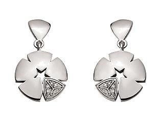 Золоті сережки з діамантами 2б_с-116 фотографія