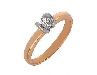 Золота каблучка з діамантом 4-к-1516 фотографія