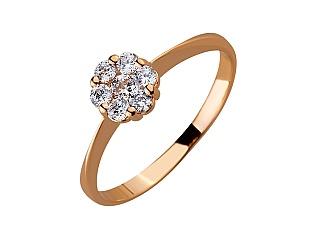 Золотое кольцо с фианитами 01-17499635 фотография
