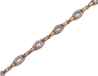 Золотой браслет с циркониями 01-17593035 фотография