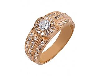 Золотое кольцо с фианитами 1б_к-001 фотография