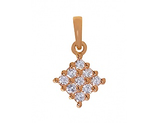 Золотой кулон с бриллиантами 1б_п-011 фотография