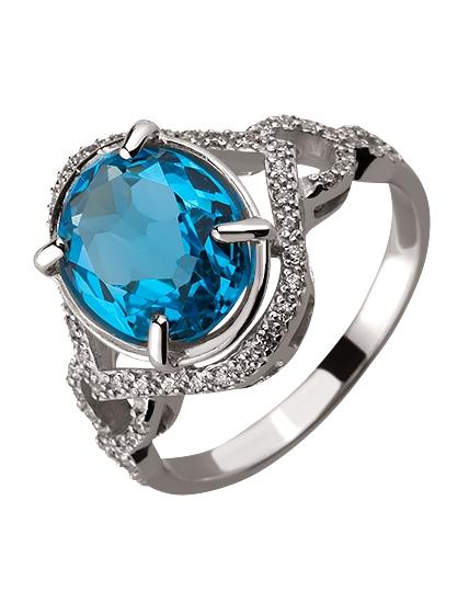Золотое кольцо с топазом 01-17593036 фотография 1