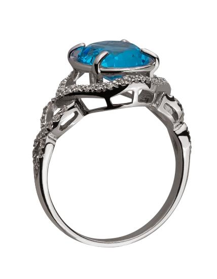 Золотое кольцо с топазом 01-17593036 фотография 2