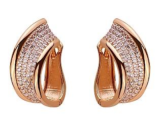 Золоті сережки з цирконієм куб. 01-17656436 фотографія