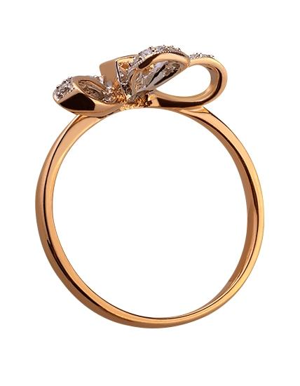Золота каблучка з діамантами і корундами 01-17445837 фотографія