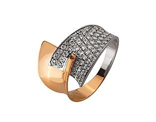 Золотое кольцо с цирконием куб. 01-17548037 фотография