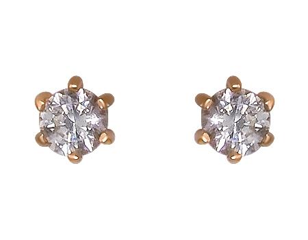 Золоті сережки з цирконієм куб. 1-с-433 фотографія 1