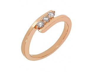 Золотое кольцо с бриллиантами 1к-270 фотография
