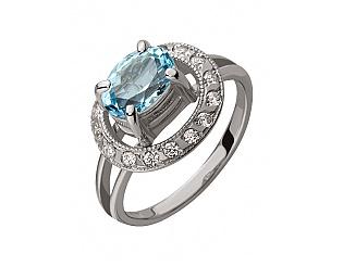 Золотое кольцо с топазами 2-к-494 фотография