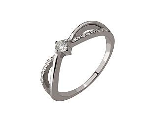 Золота каблучка з діамантами 01-17365738 фотографія