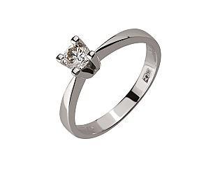 Золота каблучка з діамантом 01-17656538 фотографія