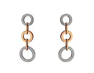 Золоті сережки з фіанітами 4с-169 фотографія