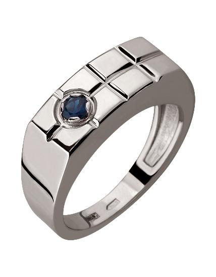 Золотой перстень 585 пробы с сапфиром (15-000069640)