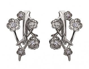 Золоті сережки з діамантами 2б_с-080 фотографія