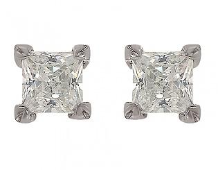 Золоті сережки з фіанітами 2-с-1046 фотографія