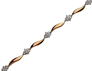 Золотой браслет с циркониями 01-17599239 фотография
