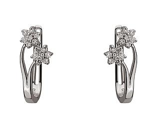 Золоті сережки з діамантом 01-17656539 фотографія