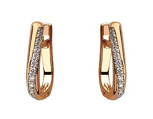 Золоті сережки з діамантом 8с-158 фотографія