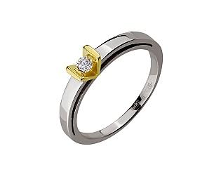 Золота каблучка з діамантом 01-17656440 фотографія