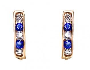 Золоті сережки з фіанітами 1-с-12 фотографія