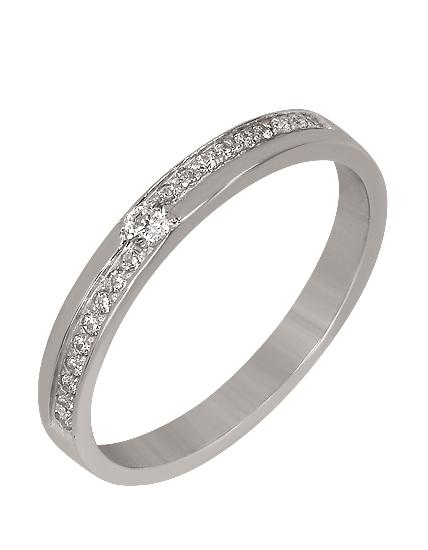 """Золотое обручальное кольцо 585 пробы c фианитами (15-000051545) """"Ювелирная карта"""""""