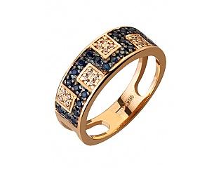 Золотое кольцо с фианитами 10б_к-040 фотография