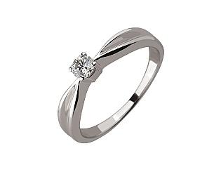 Золотое кольцо с бриллиантом 01-17445841 фотография