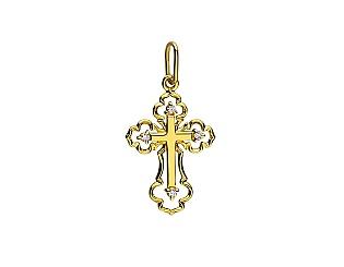 Золотий  кулон з діамантом 01-17552941 фотографія