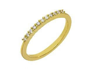 Золота каблучка з діамантами 3б_к-061 фотографія