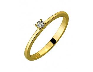 Золота каблучка з діамантами 3б_к-138 фотографія