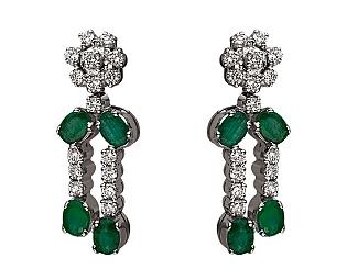 Золоті сережки з діамантами 01-17656542 фотографія