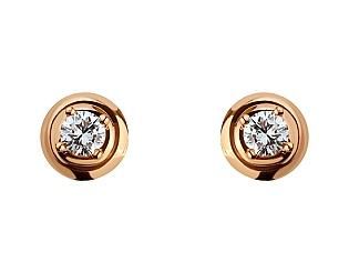 Золоті сережки з діамантами 1б_с-071 фотографія