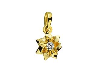 Золотий кулон з діамантами 3б_п-110 фотографія