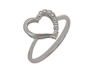 Золотое кольцо с фианитами 2-к-1215 фотография