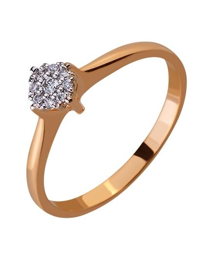 Золотое кольцо с бриллиантами 01-17578943 фотография 1