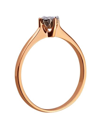 Золотое кольцо с бриллиантами 01-17578943 фотография 2